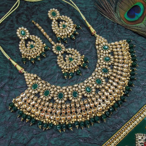 AD Kundan Necklace Set