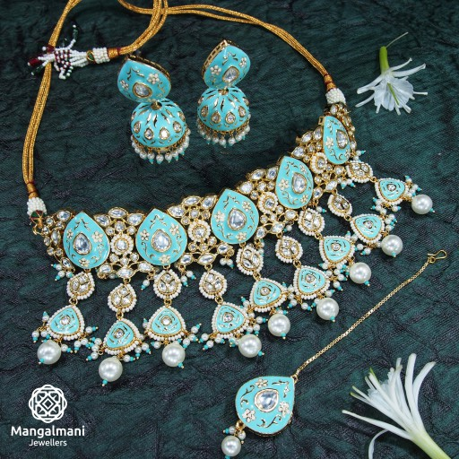Paint Meena Necklace Set